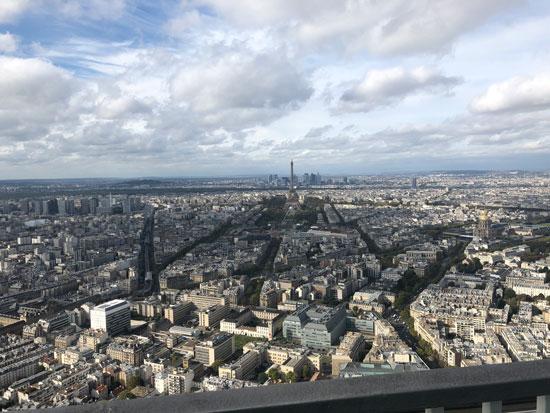 Uitzicht over de Eiffeltoren