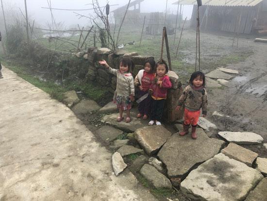 Kleine kinderen in Vietnam