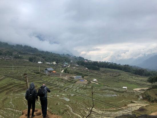 Bergdorpjes tijdens de hike