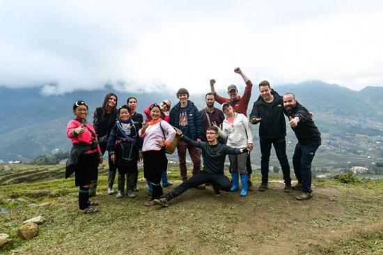 De groep van de hike