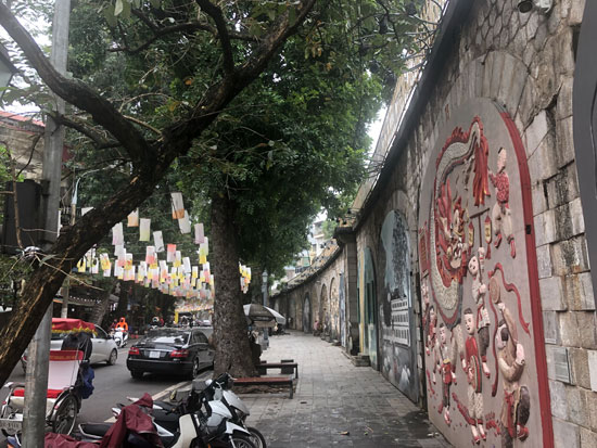 Muurschilderingen van Hanoi